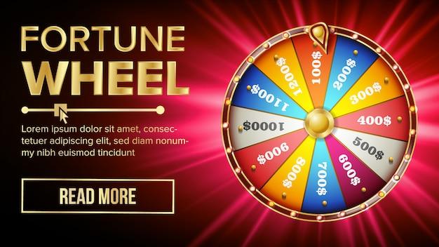 Modelo de banner da roda da fortuna