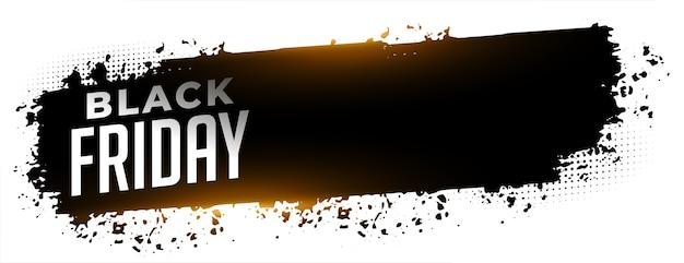 Modelo de banner da web abstrato preto de venda na sexta-feira