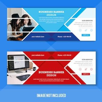 Modelo de banner da web corporativa