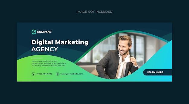 Modelo de banner da web da capa do facebook de marketing digital