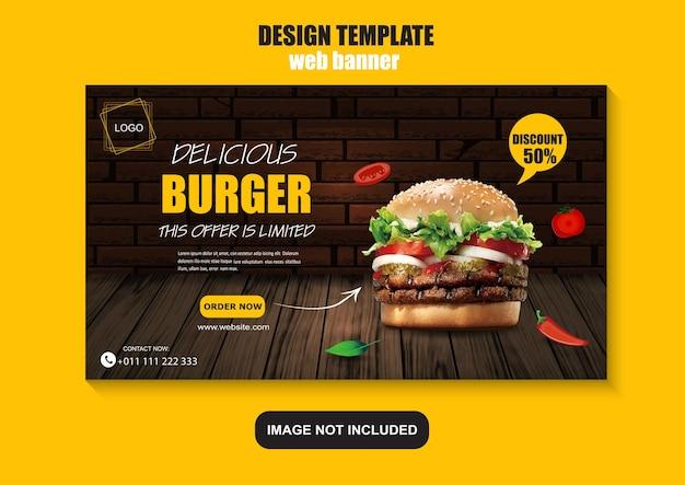 Modelo de banner da web de fast food