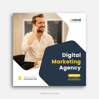 Modelo de banner da web de marketing digital modelo de postagem em mídia social ou postagem no instagram