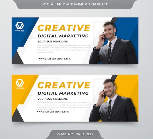 Modelo de banner da web de mídia social de negócios