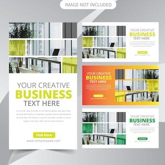 Modelo de banner da web de negócios