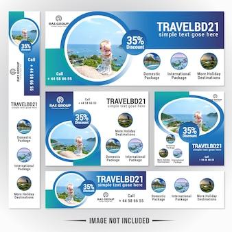 Modelo de banner da web de viagens