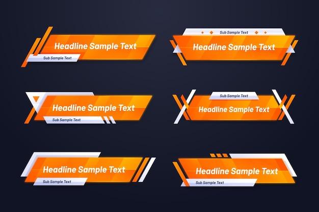Modelo de banner da web gradiente em laranja e amarelo