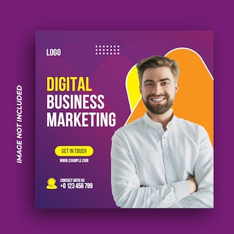 Modelo de banner da web para agência de marketing de negócios digitais