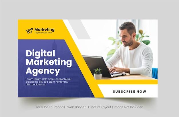 Modelo de banner da web para agência de negócios digitais