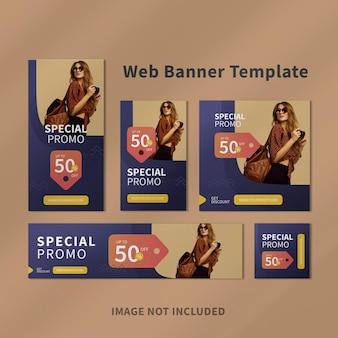 Modelo de banner da web para anúncios do google