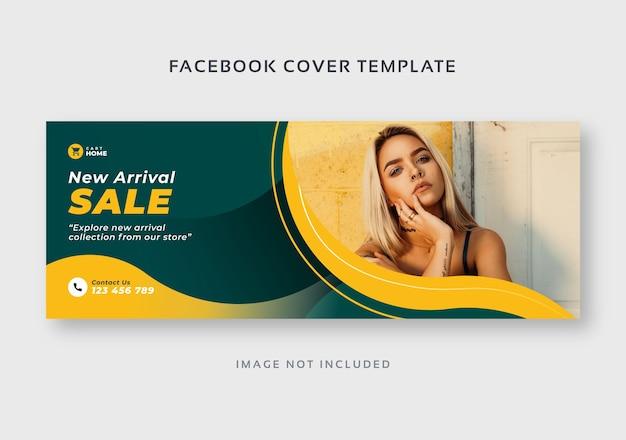 Modelo de banner da web para capa de venda de moda
