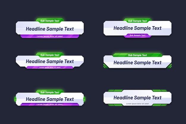 Modelo de banner da web para texto de título