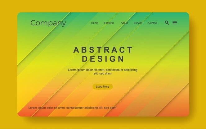 Modelo de banner da web simples e moderno