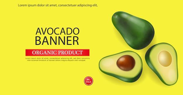 Modelo de banner de abacate