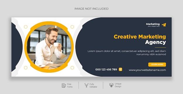 Modelo de banner de agência de marketing digital profissional premium