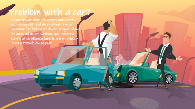 Modelo de banner de anúncio de serviço de reparo do carro