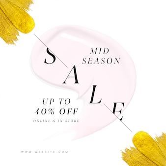 Modelo de banner de anúncio de venda