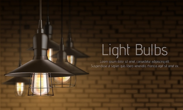 Modelo de banner de anúncio realista 3d de loja de equipamentos de luz