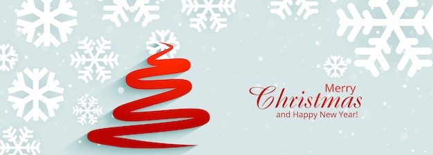 Modelo de banner de árvore de natal elegante