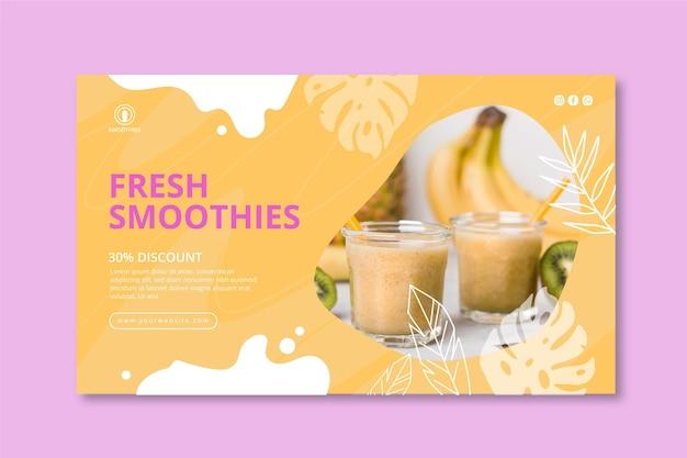 Modelo de banner de barra de smoothies