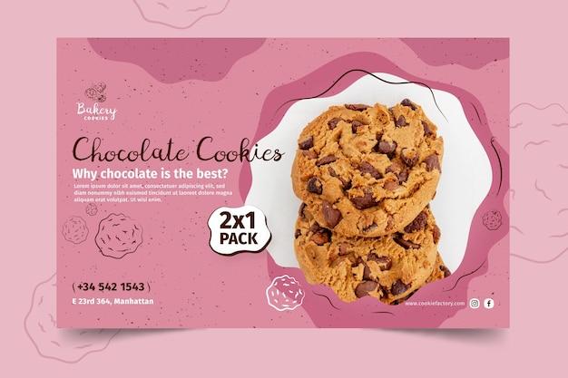 Modelo de banner de biscoitos com foto