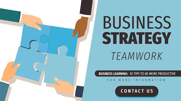 Modelo de banner de blog de negócios