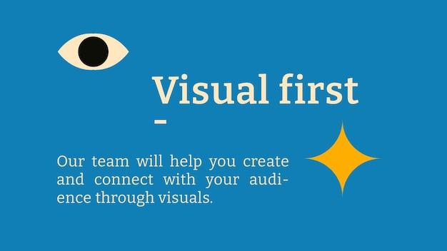Modelo de banner de blog editável design plano inspirado em bauhaus
