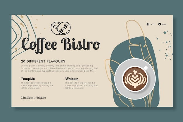Modelo de banner de café bistrô