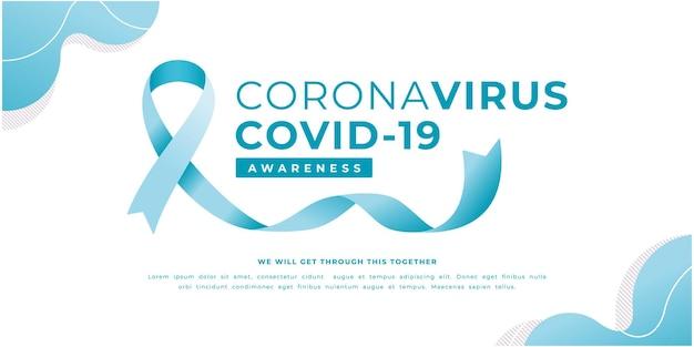 Modelo de banner de campanha de conscientização de coronavírus
