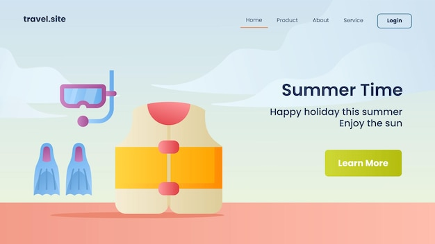 Modelo de banner de campanha de horário de verão para página inicial de website