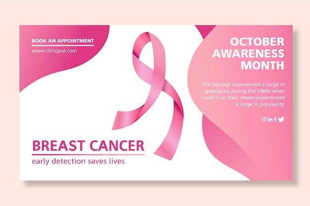Modelo de banner de câncer de mama