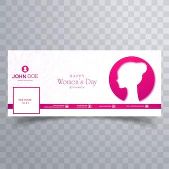 Modelo de banner de capa de facebook do dia da mulher