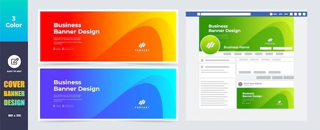 Modelo de banner de capa de mídia social
