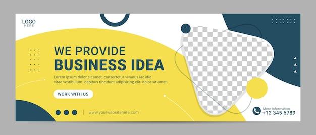 Modelo de banner de capa do facebook para agência de marketing digital para negócios corporativos