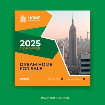 Modelo de banner de capa do facebook para venda de casa perfeita e moderna para imobiliária