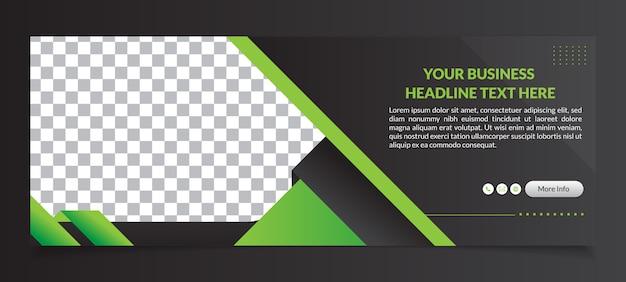 Modelo de banner de capa multiuso para facebook