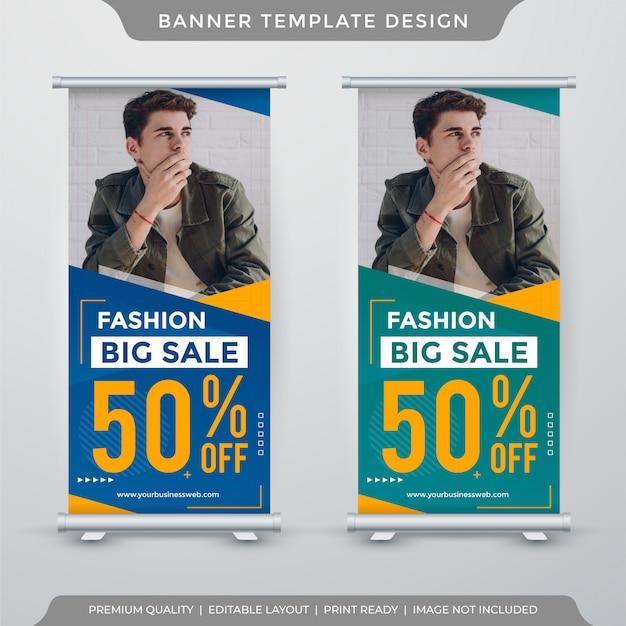 Modelo de banner de carrinho de venda de moda