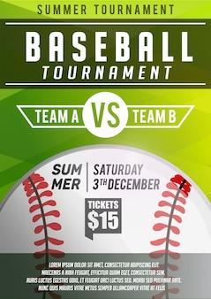 Modelo de banner de cartaz de beisebol