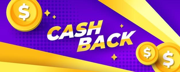 Modelo de banner de cashback