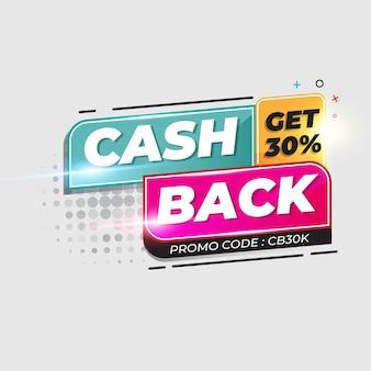 Modelo de banner de cashback.