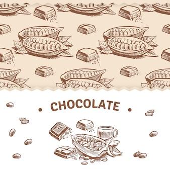 Modelo de banner de chocolate