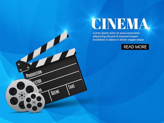Modelo de banner de cinema com ripa