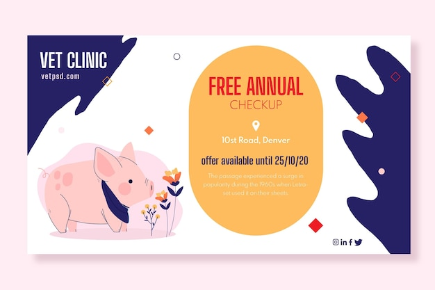 Modelo de banner de clínica veterinária