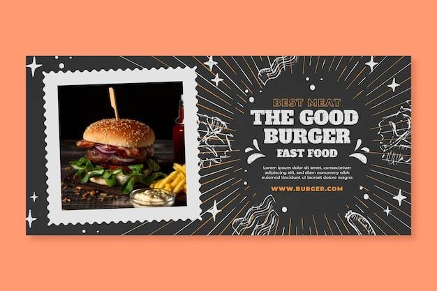 Modelo de banner de comida americana saborosa