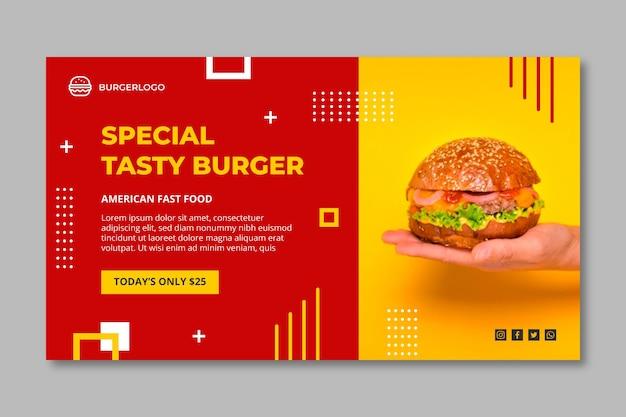 Modelo de banner de comida americana