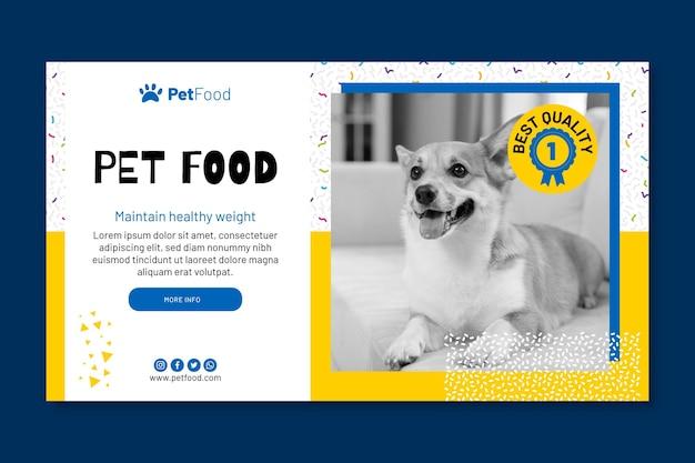 Modelo de banner de comida animal