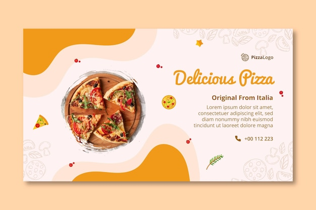 Modelo de banner de comida italiana deliciosa
