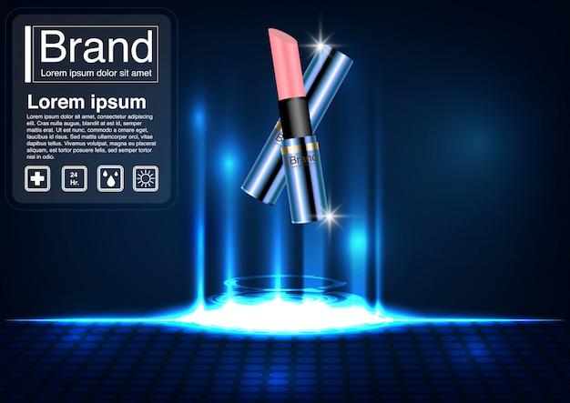 Modelo de banner de conceito de anúncio cosmético