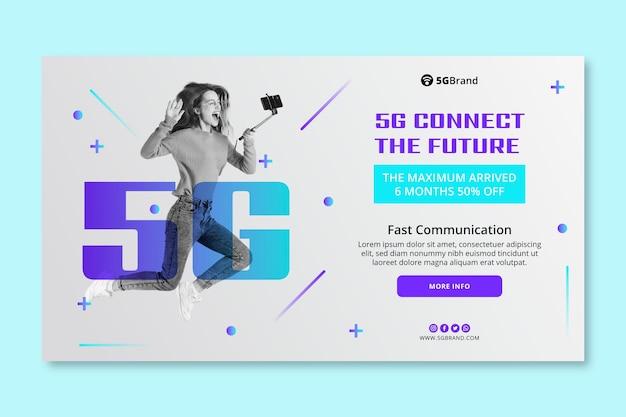 Modelo de banner de conexão 5g
