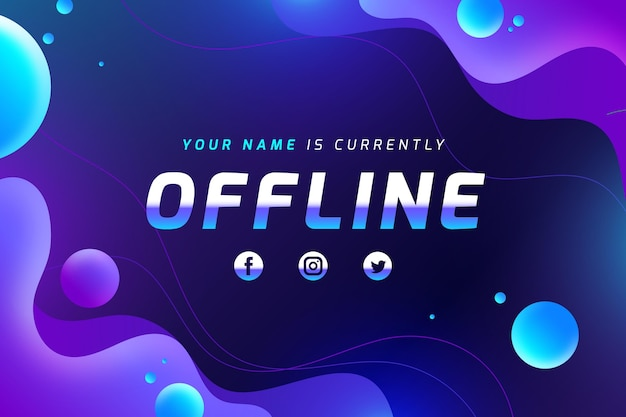 Modelo de banner de contração offline abstrato