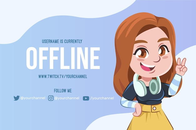 Modelo de banner de contração offline